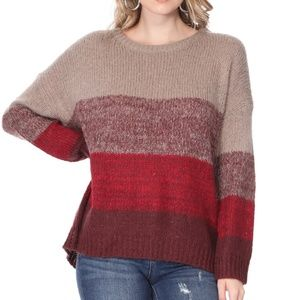 Color Blocked Cozy Sweater